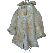 Antique winter coat for a 28 inches to 30 inches doll