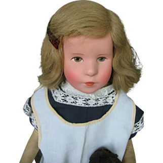 Kathe Kruse doll 8 known as little sister 18 inches or 45 cm.
