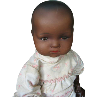 Armand Marseille Mulatte baby, 13  inches or 34 cm.