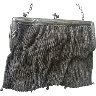 Small  Purse Metal Mesh Perfect for Doll  7 inches by 4 1/5 inches or 18 cm by 11 cm
