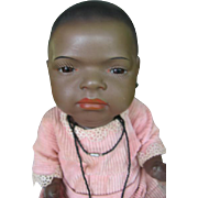 Heubach 399 black baby doll, so cute ! 16 inches