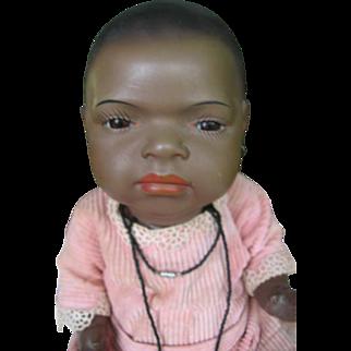 Heubach 399 black baby doll, so cute ! 16 inches