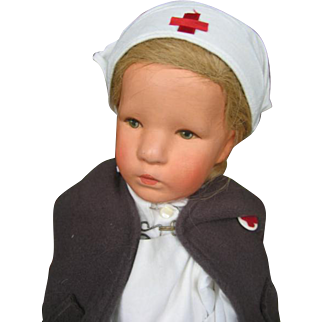 "Kathe Kruse ""Deutsches Kind"" 20 1/2 inches or 52 cm cloth head."
