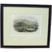 """Hand Colored Lithograph Crimean War """"Battle of the Alma"""" published circa 1860 James S. Virtue, London"""