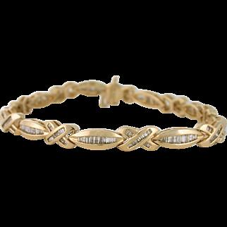2.50tcw Diamond Link Tennis Bracelet 14k yellow gold