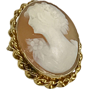 Valentine's SALE 50% OFF: Vintage 1920's Natural Shell Cameo 10KY (CAMPEN10042)