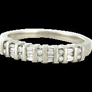Vintage Diamond .45 Band, Estate piece in 10k white gold. Diamond Ring. Wedding Band, Anniversary Band