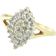 Classy Petite Dinner Ring with .25tcw Of Diamonds 10k yellow gold