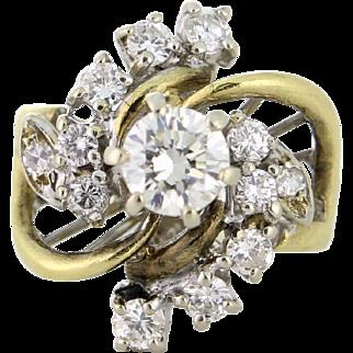 One Carat Diamond Ring Vintage Estate