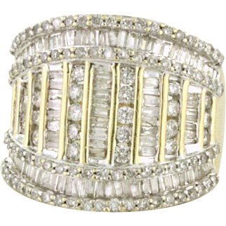 SPARKLING 2.00tcw Diamond Wide Band with Personality and Bling! 10k gold