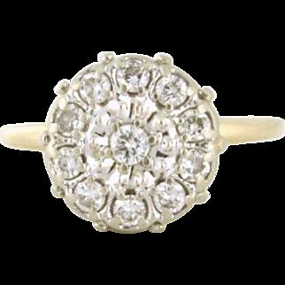 Big Look, Small Price Diamond 1.00tcw Cluster Ring Circa 1969 - DIAR10172
