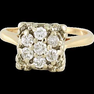 Southern Classic Diamond .50tcw Cluster Ring Circa 1954