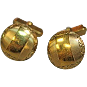Vintage SWANK Cufflinks, 1/20 12k Gold Filled, Art Deco. Formal Wear. Business. Office Attire. Wedding Gift. Groom. Best Man.