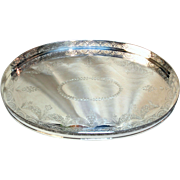 "Attractive Sheffield Tray ""Mara"" Silver plated (and newly re-silver plated too!) - Popular 1970s style"