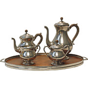 Dutch Pewter and Teak Wood Tea Service - OTH10075