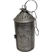 Tin Lantern by Dale the Tinker. Authentic American Colonial Reproduction. Paul Revere Style. Tinware.