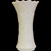 "Vintage LENOX Porcelain Vase Retired Woodland Collection Ivory 8.5"" Tall"