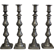 "Colonial Casting Company Pewter 12"" Candlesticks Meriden Conn - OTH10169"