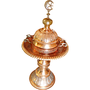 Christmas SALE 50% OFF New Arrival: A Vintage Large Syrian Hand Crafted Copper Brazier originally owned by the State Department back in the 1940's OTH10189