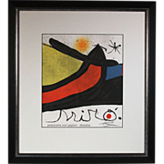 50% OFF SALE: Joan Miro D.L.M. Cover 1988 original lithograph w/ COA & hand signature reg # JM P 4 (ART10008)