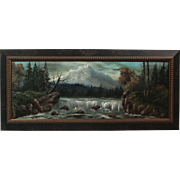 "50% OFF SALE: Luther Olanski ""Nature's Power"" oil on cardboard Pacific NW landscape (ART10045)"