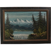 50% OFF SALE: Luther Olanski oil on cardboard Pacific NW landscape (ART10044)