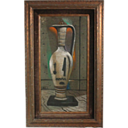 """50% OFF SALE: Dusso """"Urn"""" oil on board - Painter featured in movies & TV shows Leon D'Usseau (ART10025)"""