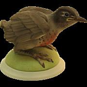 Boehm Baby Robin 437 vintage porcelain bird figurine