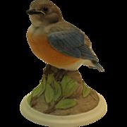Boehm Baby Blue Bird 442 vintage porcelain bird figurine Bluebird