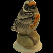 Boehm Fledgling Blackburnian Warbler 478 vintage porcelain bird figurine