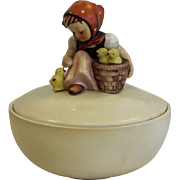 Goebel Hummel CHICK GIRL Candy or Trinket Box TM3 1960-1972 - lidded dish