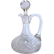 American Cut Glass ABP CRUET w/ Handle, vinegar, oil, syrup, or more