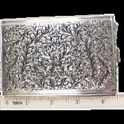 Artistic Sterling Silver Cigarette Case 1940's G. Tutunzi Rome