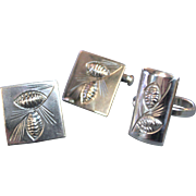 "Stuart Nye ""His & Hers"" Gifts. Sterling Silver Cufflinks and Ring"