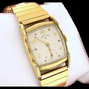 Lord Elgin Wrist Watch, 14k gold filled, circa 1954 - Working Vintage Watch