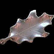Vtg Stuart Nye Sterling Silver Leaf Pin Brooch Handcrafted Signed Jewelry Asheville NC Artisan