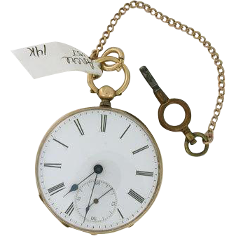 LABOR DAY SALE Vintage Ancre Pocket Watch 1870 1920