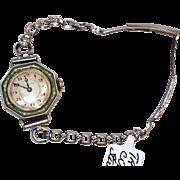 Trinitas Vintage Watch 15 Jewels, circa 1930. Sterling Silver. Rare Swiss