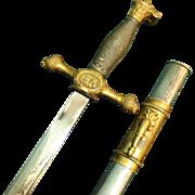 Military Academy Ceremonial Sword by Wm C Rowland Inc of Philadelphia - possibly NYMA