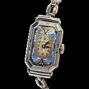 Art Deco Benrus 14k white gold 15 Jewel, circa 1924