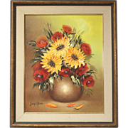 """50% OFF SALE: Sonia Gil Torres """"Sunflowers"""" oil on canvas flower painting (ART10014)"""