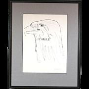 """Pablo Picasso Lithograph """"L'Aigle"""""""