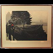 """Elton Bennett """"Tidewater"""" original hand-pulled silkscreen ART10018"""