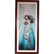 "50% OFF SALE: Celeste Craven ""Oceanna"" 2000 lithograph 39/200 mermaid beach ocean female (ART10012)"