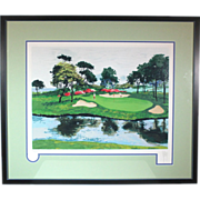 50% OFF SALE:  Mark King Numbered Serigraph Myrtle Beach Dunes Golf ART10003