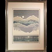 "50% OFF SALE: C. Newhardt ""Sierra Vista"" 1983 limited edition lithograph 295/950 (ART10058)"