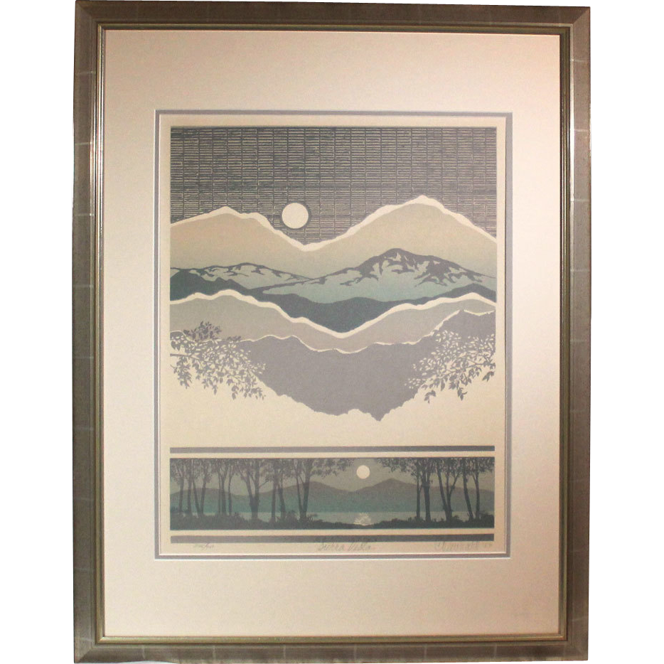 "50% OFF SALE: C. Newhardt ""Sierra Vista"" 1983 limited edition lithograph 295/950 (ART10058)"