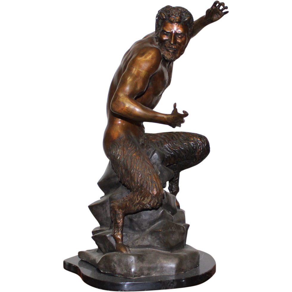 "Ricardo Ponzanelli ""The Satyr"" Bronze Sculpture 22""H ..."