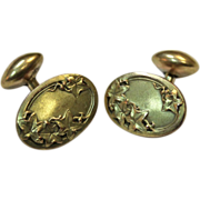 Gold Plate Cuff Links - Circa 1910
