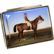 Russian Enamel & Sterling Silver Snuff Box circa 1890 Aleksei V. Stephanov - Red Tag Sale Item